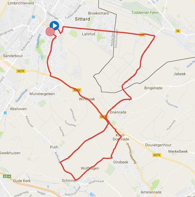 Stage SittardGeleen SittardGeleen BinckBank Tour Of - Geleen map